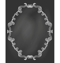 ornamental frame on chalkboard vector image