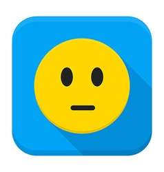 Pensive Yellow Smiley Face App Icon vector image