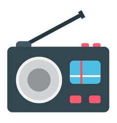radio flat icon communication and website vector image