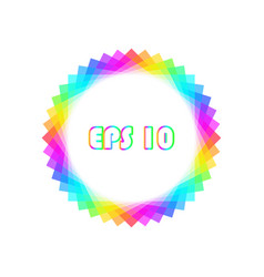 rainbow design element vector image
