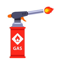 Red gas spray emits a flame vector