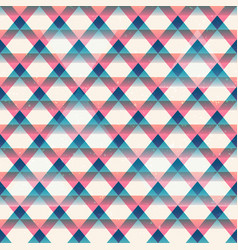 retro triangles seamless pattern vector image