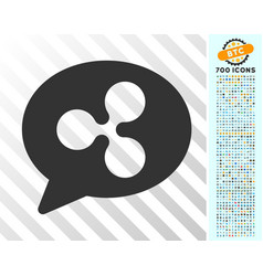 Ripple chat message flat icon with bonus vector
