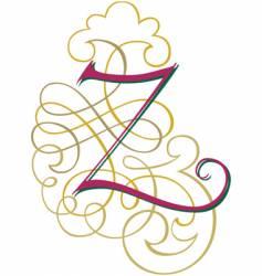 script letter z vector image