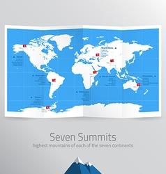 seven summits vector image