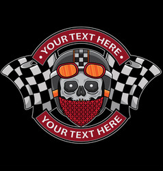 Skull club motorcycle logo vector