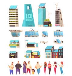 Smart city residents set vector