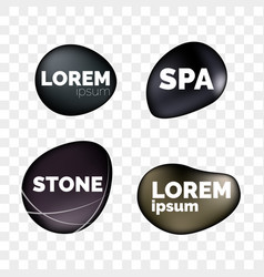 Spa stones 3d isolated realistic zen icons vector