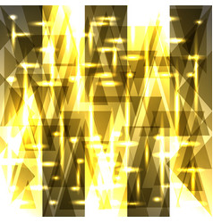 Sparkling pattern of light gold fragments and vector