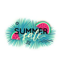 summer sale trendy banner modern backgrounds vector image