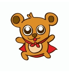 Super bear design for kids vector