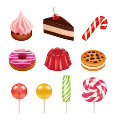sweets and candy pictures objects from sugar vector image