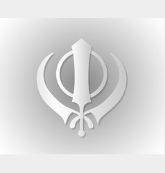 symbol of the sikhs khanda vector image
