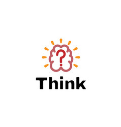 think abstract simple brain logo vector image