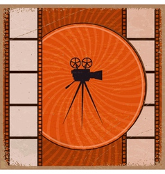Vintage orange background vector image
