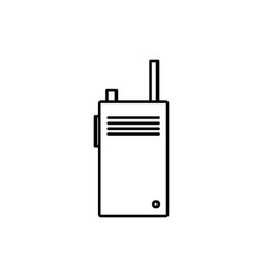 Walkie talkie icon vector