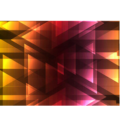 warm triangle and square bar abstract background vector image