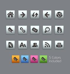 web navigation - satinbox series vector image