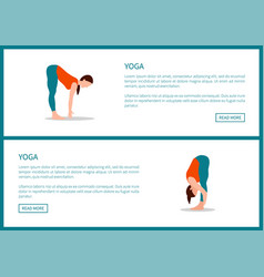 yoga healthy physical training poster vector image