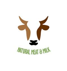 Cow head logo vector