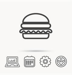 Hamburger icon fast food sign vector