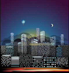 modern cityscape in the morning city buildings vector image