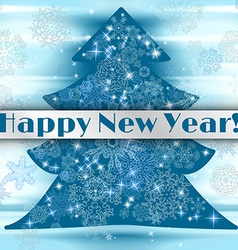 New year background with christmas tree and vector image vector image