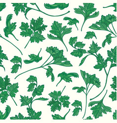 Beautiful botanical seamless pattern with green vector