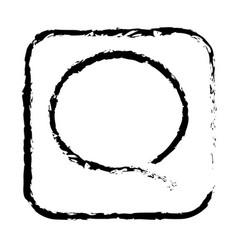 contour sumbol chat bubble icon vector image