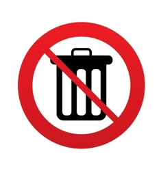 Dont throw trash Recycle bin sign icon vector image vector image