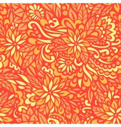 Golden Autumn Seamless decorative pattern vector image