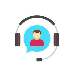 Help desk logo concept customer support service vector image