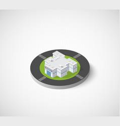 Supermarket shop 3d icon dimensional building of vector
