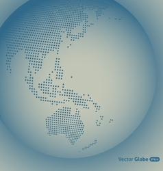abstract dotted globe vector image