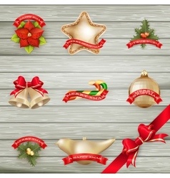Christmas decor Objects collection EPS 10 vector image