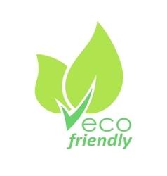 Eco friendly green leaves logo vector image