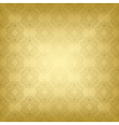 gold seamless vintage pattern vector image