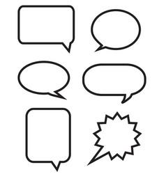 big speech bubbles set vector image vector image
