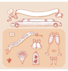 Design element for wedding greeting card Vintage vector image