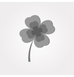 Gray clover on a white background vector image vector image