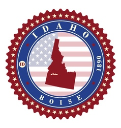 Label sticker cards of State Idaho USA vector image