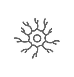 simple neuron nerve line icon symbol and sign vector image