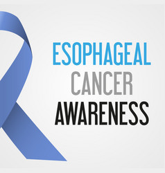 world esophageal cancer day awareness poster eps10 vector image