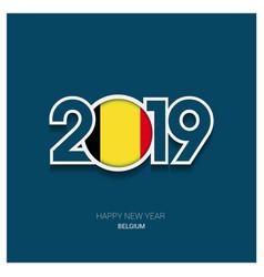 2019 belgium typography happy new year background vector
