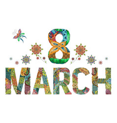 8 march womens day card 8 march womens day card vector image