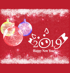abstract background with red christmas balls vector image