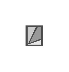 Abstract square logo design template vector