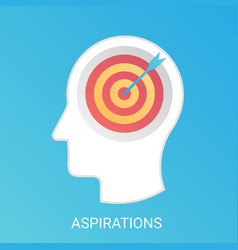 aspiration concept modern gradient flat vector image