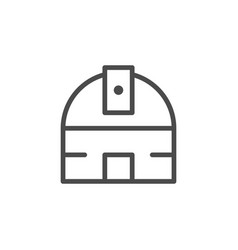 astronomical observatory line outline icon vector image