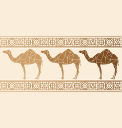 background with camels vector image